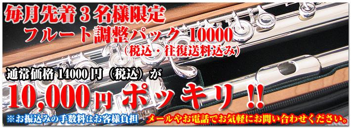 フルート調整パック 10000円往復送料込