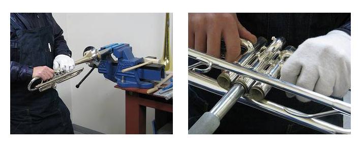 トランペット修理,トランペットリペア,トランペット調整,トランペット管内洗浄クリーニング,イメージ